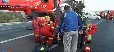 Gestul impresionant al colegilor jandarmului, care a intrat in coma in urma accidentului din Constanta. Este singurul supravietuitor din masina mortii