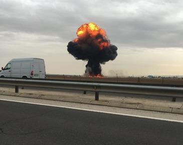 Un avion s-a prabusit in apropiere de Madrid. Nu exista supravietuitori