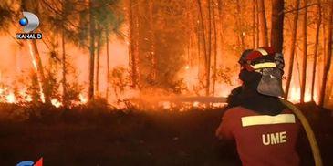 Doliu national. Peste 60 de persoane au murit in urma incendiilor de vegetatie din Spania si Portugalia - Peisajul este apocaliptic