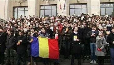 Studentii de la Drept au protestat impotriva legilor justitiei!