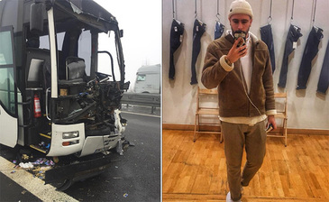 Un roman si mama lui, victimele unui accident rutier din Germania. Un autocar plin cu 51 de persoane a fost implicat - Imagini de la locul tragediei