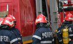 Barbat din Vrancea, arestat, dupa ce si-a incendiat propria casa in care se aflau trei copii