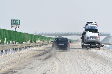 A nins in aproape toata tara. Cum se circula la ora asta pe autostrazile din Romania