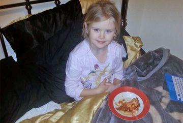 Si-a fotografiat fiica mancand pizza in pat, iar ce a urmat apoi este cumplit! Tatal a fost arestat imediat