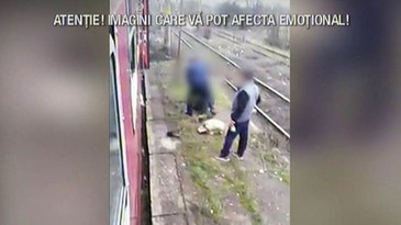 Imagini pline de cruzime! Un controlor CFR snopeste in bataie un barbat fara bilet - Il trage din tren, il arunca din tren si il loveste cu cruzime