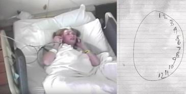 O jurnalista, internata la ospiciu, dupa ce familia a crezut ca a innebunit! A fost salvata de un medic care a pus-o sa deseneze un ceas! Ce a descoperit in urma desenului