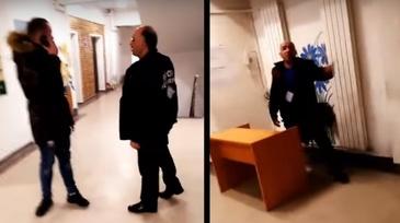Revoltator! Un tanar a fost batut pe holurile Spitalului Municipal din Campina