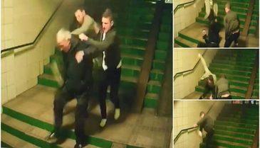 Un batran de zbate intre viata si moarte dupa ce a fost lovit cu salbaticie de doi tineri! Imagini sfasietoare surprinse in Brasov