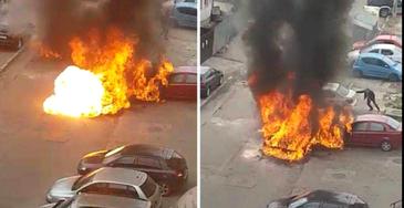 Inca un caz de masini incendiate, de aceasta data in Bacau! Unul dintre autoturisme a explodat!