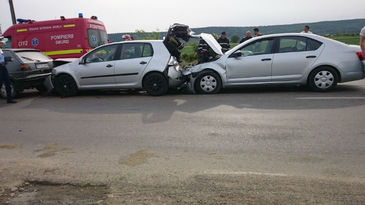 Accident in lant pe autostrada Bucuresti-Pitesti!