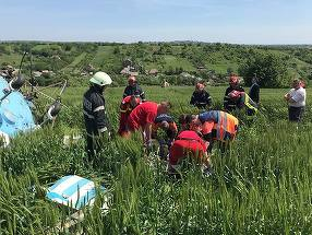 Un elicopter s-a prabusit in urma cu cateva minute la Turda! Autoritatile s-au deplasat de urgenta la fata locului
