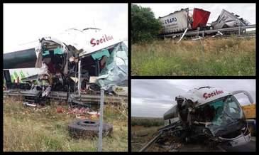 Un roman se afla printre ranitii accidentului din Spania, unde autocarul cu 46 de pasageri s-a ciocnit cu un TIR. In ce stare se afla barbatul
