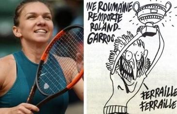 Ultima ora! Plangere penala impotriva publicatiei Charlie Hebdo pentru caricatura cu Simona Halep. Cine a decis sa deschida procesul