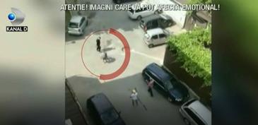 Imaginile cruzimii vin din Mangalia, unde o femeie a fost batuta in plina strada! Cei acuzati de loviri sunt fostul sef al unui circ si iubita acestuia