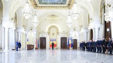 Gratiela Gavrilescu si Viorel Ilie au depus juramantul ca membri ai Guvernului, la Palatul Cotroceni. Presedintele Iohannis nu a avut niciun mesaj public la ceremonie