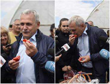 Imagini inedite cu Liviu Dragnea. Cum promoveaza liderul PSD rosia romaneasca