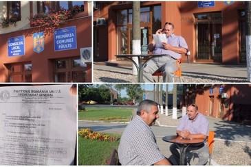 Scandal intr-o comuna din Arad. Viceprimarul demis si-a instalat biroul in strada - De ce nu vrea sa renunte la functie