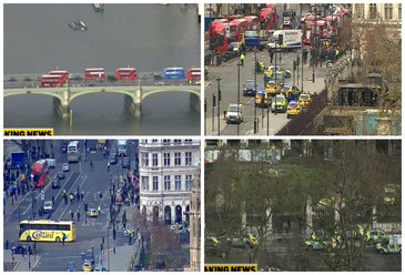 Atac armat in fata Parlamentului din Londra. Patru persoane au murit si cel putin 20 au fost ranite, printre care si doi romani