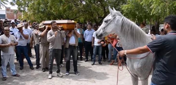 Cutremurător! A murit într-un accident rutier, iar la inmormantare i-a fost adus calul! E infiorator ce s-a intamplat cand animalul s-a apropiat de sicriu