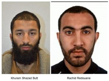 Autoritatile britanice i-au identificat pe doi dintre atacatorii londonezi drept Khuram Butt si Rachid Redouane
