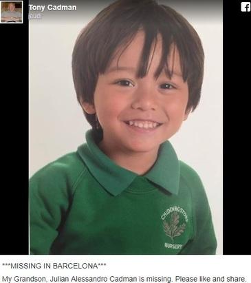 Un baietel de 7 ani, dat disparut in Barcelona, dupa atac. Copilul a fost gasit in viata, la spital