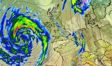 """Marea Britanie, lovita de o """"bomba meteorologica"""". Furtuna Brian ar putea fi mai rea decat Uraganul Ophelia"""