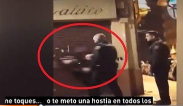 Un politist a lovit cu brutalitate o femeie, incat aceasta s-a prabusit la pamant - Imagini care va pot afecta emotional