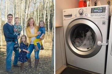 O fetita de 3 ani a fost la un pas de moarte dupa ce masina de spalat in care s-a ascuns a inceput sa functioneze. Cum a gasit-o mama ei