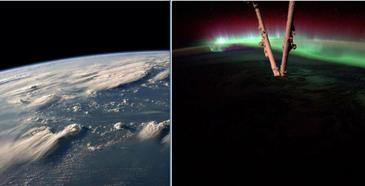 Cele mai spectaculoase imagini din spatiu! Cum arata aurora boreala sau un uragan dincolo de stratosfera