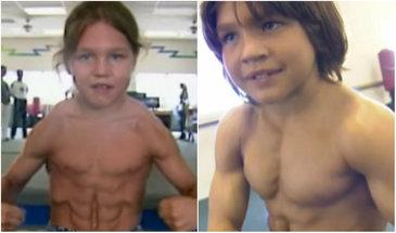 """La 8 ani era numit """"Micul Hercule"""". Cum arata acum, dupa 16 ani, baietelul care a uimit intreaga lume"""