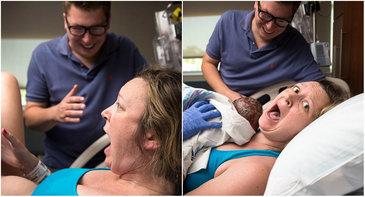 Reactia incredibila a unei mame cand si-a vazut copilul pentru prima oara! Ce a facut-o sa se comporte asa