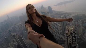 O rusoaica supersexy s-a filmat pe acoperisul unui zgarie-nori din Dubai. E TERIFIANT ce s-a intamplat la cateva secunde dupa asta