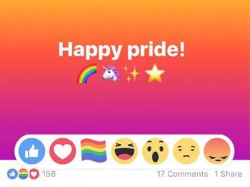 Ai vazut like-ul curcubeu pe Facebook? Ce reprezinta si cand se foloseste
