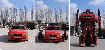 Au transformat un BMW seria 3 intr-un robot. Filmul Transformers pare comedie pe langa monstrul acesta