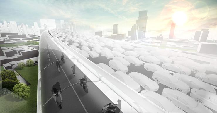 Asa va arata strada viitorului, unde gestionarea traficului se va face cu ajutorul Inteligentei Artificiale. Un concept prezentat de BMW