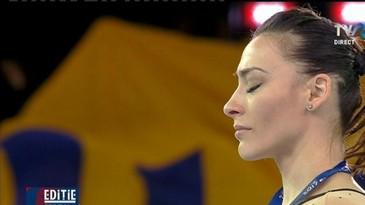 Catalina Ponor - medalie de aur, Larisa Iordache - bronz la barna, la Campionatele Europene de la Cluj-Napoca. Momente emotionante pe podium
