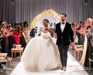 Vogue a publicat fotografii de la nunta Serenei Williams