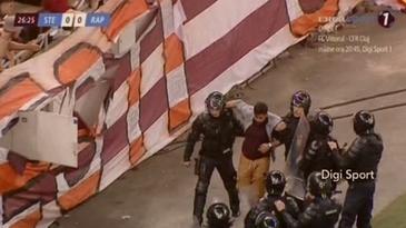 Sanctiuni dure după incidentele de pe Arena Nationala, de la meciul dintre Steaua şi Rapid! Amenzi usturatoare si interdictie pe stadion pentru 57 de huligani