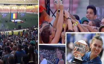 Simona Halep, asteptata de mii de oameni pe Arena Nationala. Campioana a prezentat trofeul de la Roland Garros romanilor