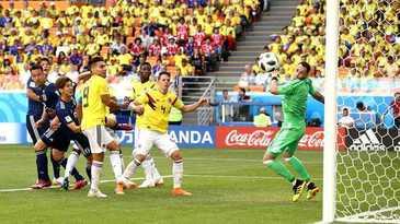 Campionatul Mondial de fotbal 2018. Primul cartonas rosu s-a acordat in partida Columbia - Japonia , scor final 1-2