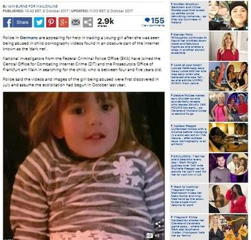 Fetita de 4 ani, abuzata sexual in filme pentru adulti. Politia incearca cu disperare sa ii afle identitatea