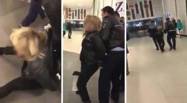 Femeia care si-a maltratat copilul si a muscat un politist de picior ar fi fiica unui cunoscut lautar din Bucuresti