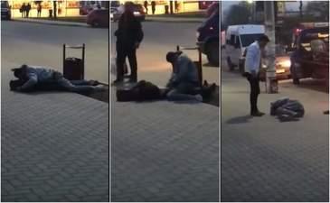 Viol pe strada la Pascani! O tanara era agresata pe trotuar de catre un individ beat, dar nimeni nu a intervenit sa o ajute. Niste tineri radeau de mama focului de ce se intampla