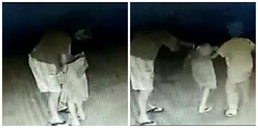 Si-a dat pantalonii jos, apoi a inceput sa sarute o fetita! Fratele acesteia incearca sa isi salveze sora din mainile pedofilului. Imagini terifiante surprinse de camerele de supraveghere