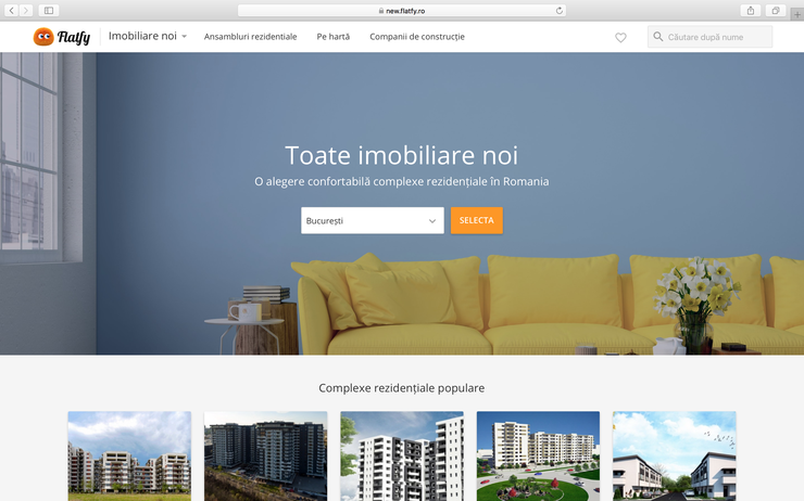NEW.Flatfy.ro – toate ofertele de pe piaţa imobiliarelor noi într-un singur catalog!