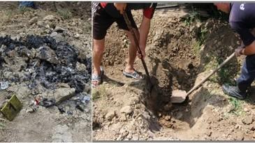 Un moldovean a facut o groapa in curtea casei, iar ce a ascuns acolo este infiorator! Barbatul risca acum ani grei de puscarie