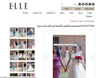 Creatoarea de moda Andreea Dogaru a aparut in Elle Arabia