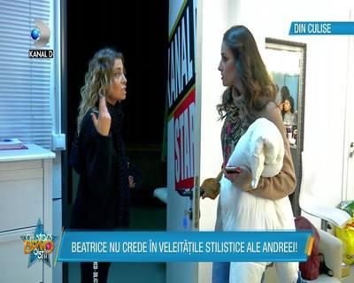 """Beatrice si Andreea, o noua cearta la """"Bravo, ai stil! All Stars"""""""