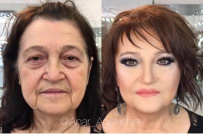 FOTO GENIAL! Stilistul asta din Azerbaijan face femeile sa arate cu 20 de ani mai tinere! Uite cum le machiaza!