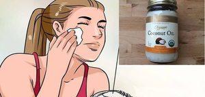 Cum poti scapa de riduri si de petele de pe fata folosind ulei de cocos si bicarbonat